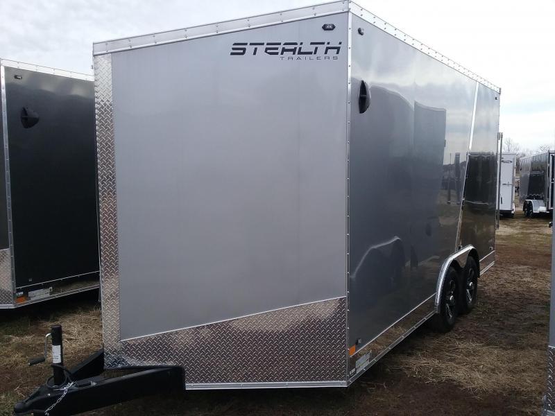 "2020 Stealth Trailers Titan 8.5x16 +12"" Height 10k w/Flash Pkg Enclosed Cargo Trailer"