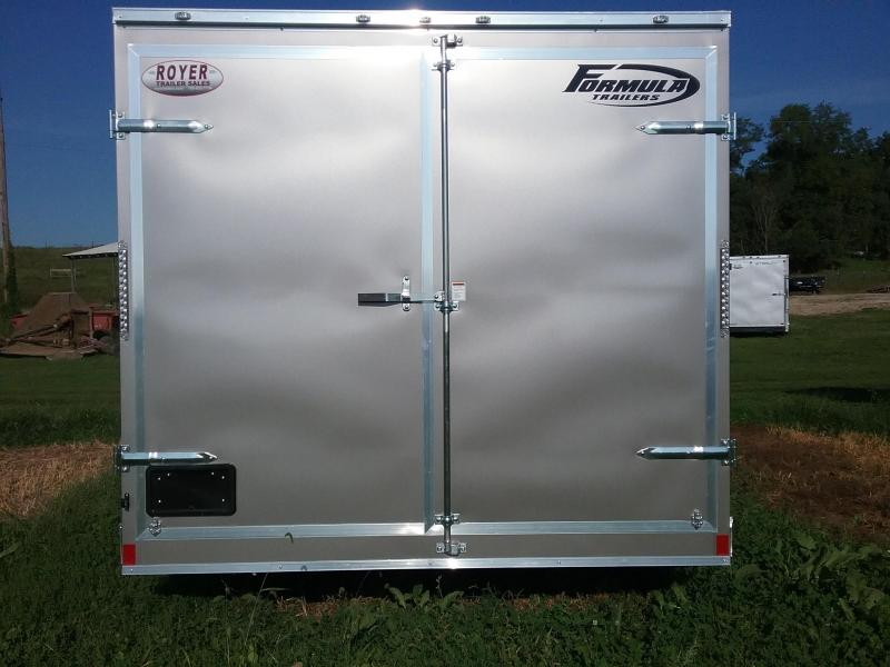 """8.5x18 (+6"""" Additional Height) Formula Conquest Enclosed Cargo Trailer *with Barn Doors*"""