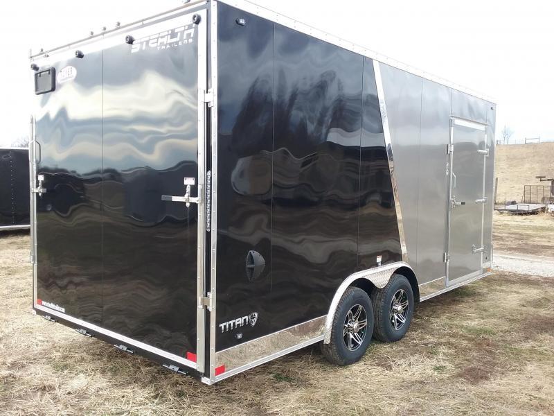 "2020 Stealth Trailers Titan 8.5x18 +12"" 10K Enclosed Cargo Trailer"