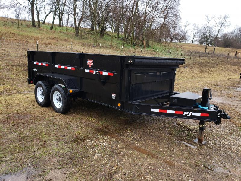 2020 PJ Trailers 83x14 Low -Pro High Side Dump Trailer