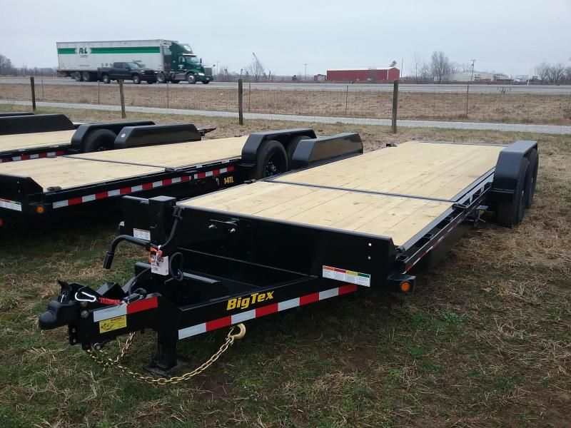2020 Big Tex Trailers 22' TILT TRAILER WITH 16' STATIONARY DECK Equipment Trailer