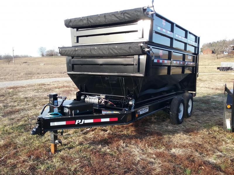 2020 PJ Trailers 14' Rollster Bumper Pull Dump Trailer