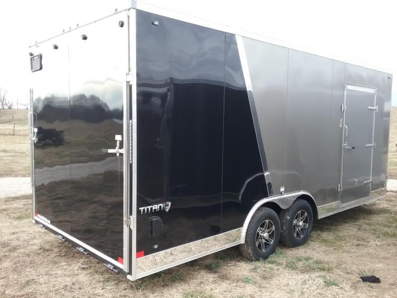 """2020 Stealth Titan 10K  8.5x20 +12"""" Heigth w/Flash Pkg Enclosed Cargo Trailer"""