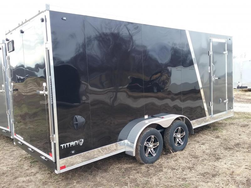 """2020 Stealth Trailers Titan 7x18 +12"""" Height Enclosed Cargo Trailer"""