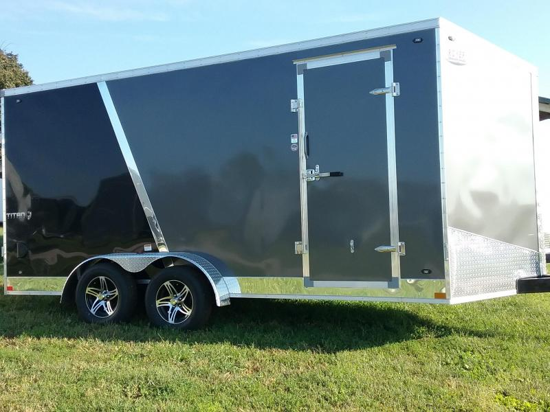 "7x16 (+12"" Additional Height) Stealth Titan Enclosed Cargo Trailer"