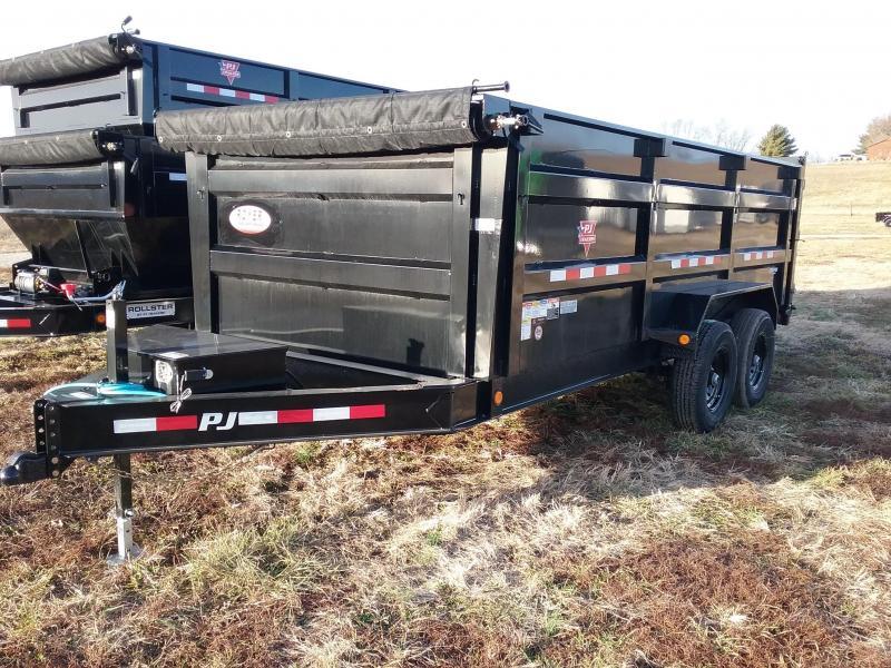 2020 PJ Trailers 83x16 High Side 14k Dump Trailer