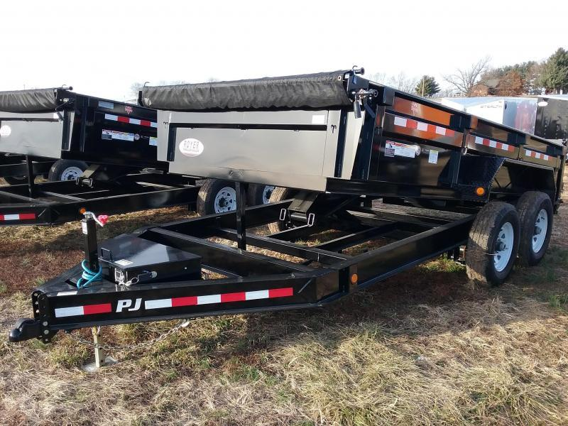 2020 PJ Trailers 14K 83x14 Scissor Lift Dump Trailer