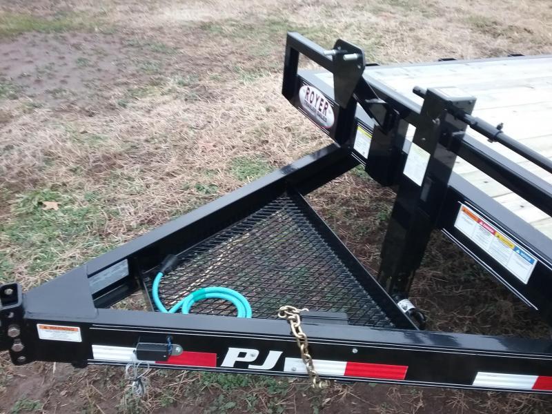 PJ 14K 20' EQUIPMENT TRAILER W/MONSTER RAMPS