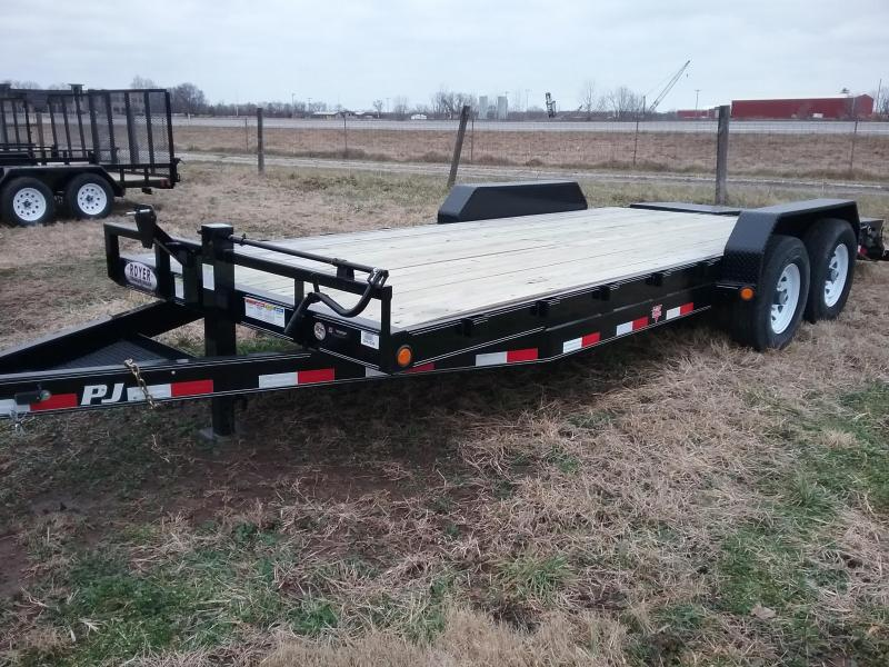 PJ 14K 20' EQUIPMENT TRAILER W/MONSTER RAMPS