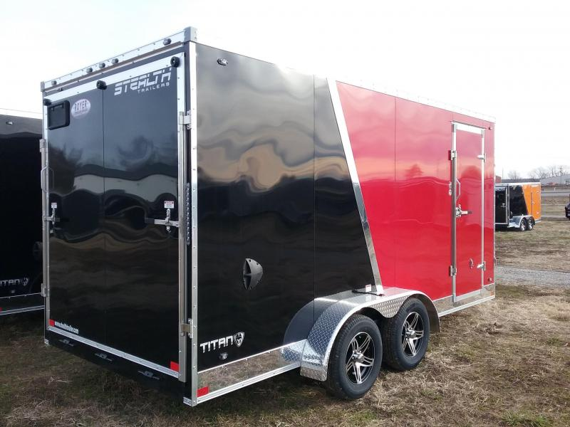 """2020 Stealth Trailers 7x16 +12"""" Extra Height Flash Pkg Enclosed Cargo Trailer"""