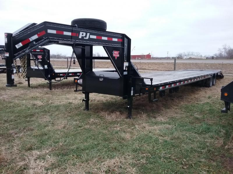 40' PJ-12K Axles-Elec/Hyd Brakes- Slide Winch Track- Monster Ramps