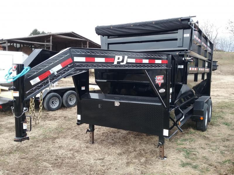 2020 PJ 14' Gooseneck Rollster Dump Trailer