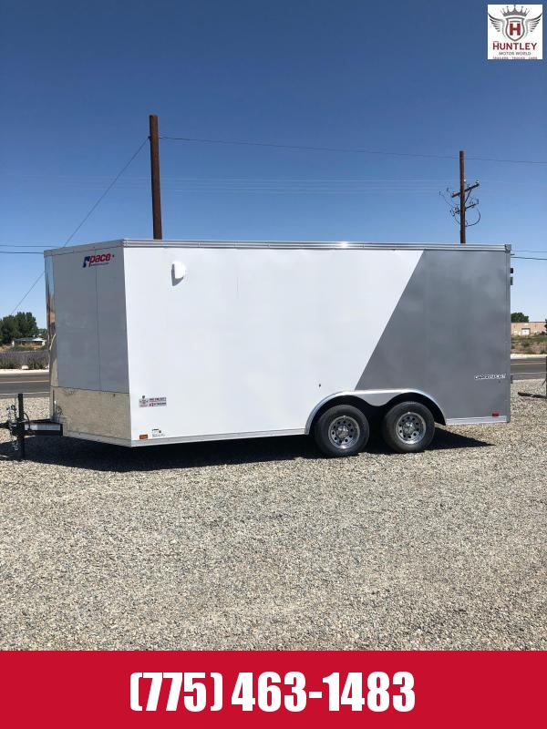 2021 Pace American Cargo Sport 16' Side by Side Trailer ATV Trailer