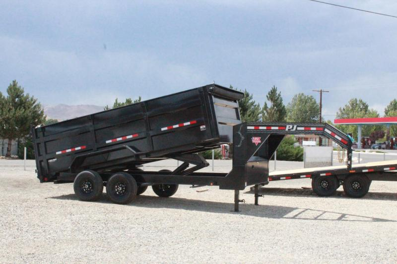PJ Trailers 16' Low Pro High Side Gooseneck Dump Trailer