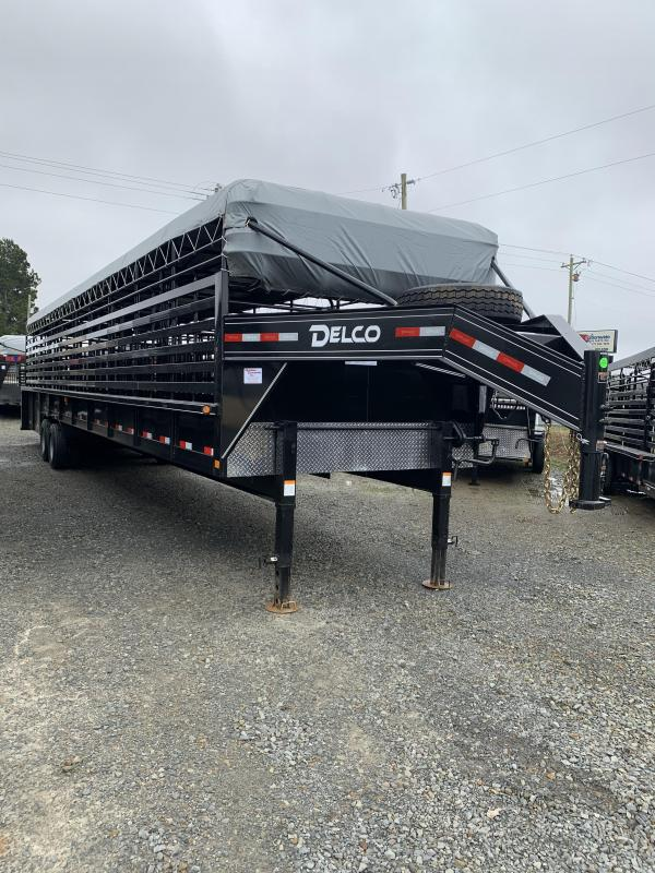 2020 Delco Trailers 40x7.6 Mini Ground Load Stock Trailer