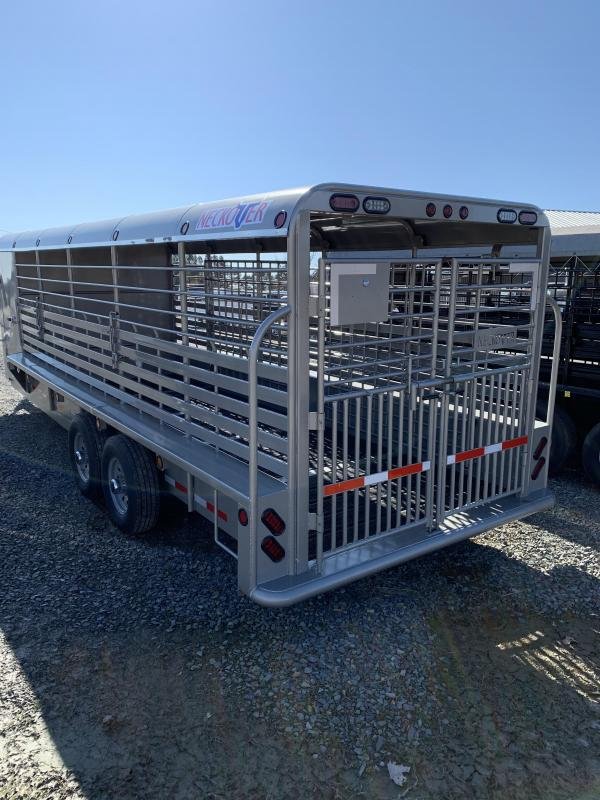 2020 Neckover Trailers 24x6.8 Metal Top Livestock Trailer