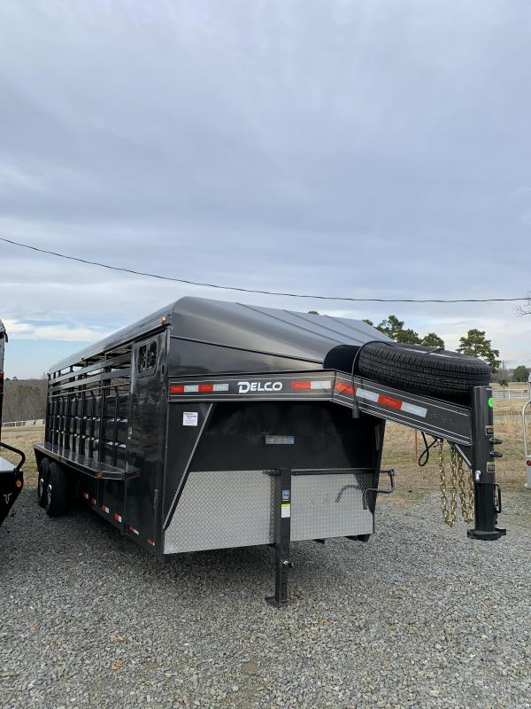 2020 Delco Trailers 24x6.8 Metal Top Stock Trailer With 4' Tack