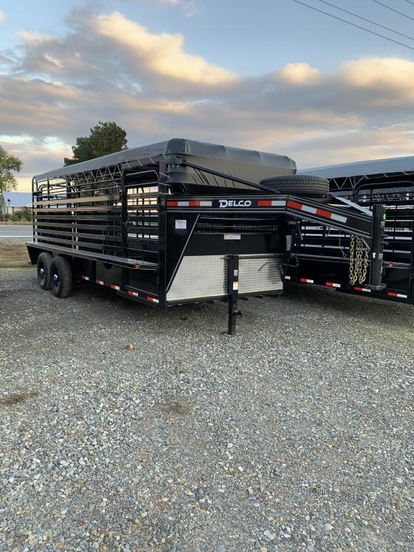 2020 Delco Trailers 20x6.8 Stock Livestock Trailer