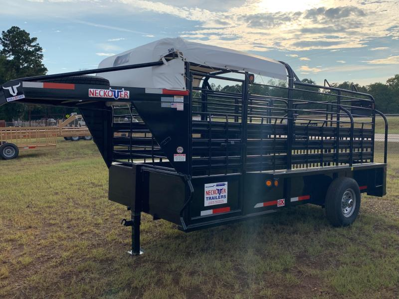 2019 Neckover Trailers 14x6 Catch Can Stock Livestock Trailer