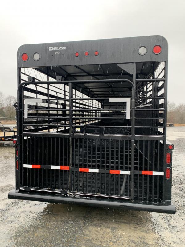 2020 Delco Trailers 36x7.6 Mini Gound Load Livestock Trailer