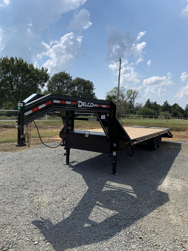 2020 Delco Trailers 20 plus 5 GN Flatbed Trailer