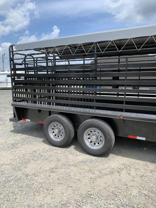 2020 Delco Trailers 20x6.8 Livestock Trailer