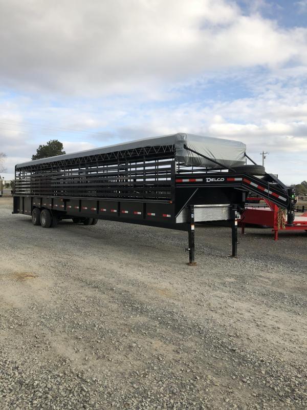 2020 Delco Trailers 40x7.6 Mini Groundload Livestock Trailer