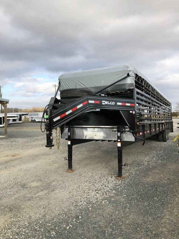 2020 Delco Trailers 40x7.6 Mini Groundload Livestock Trailer