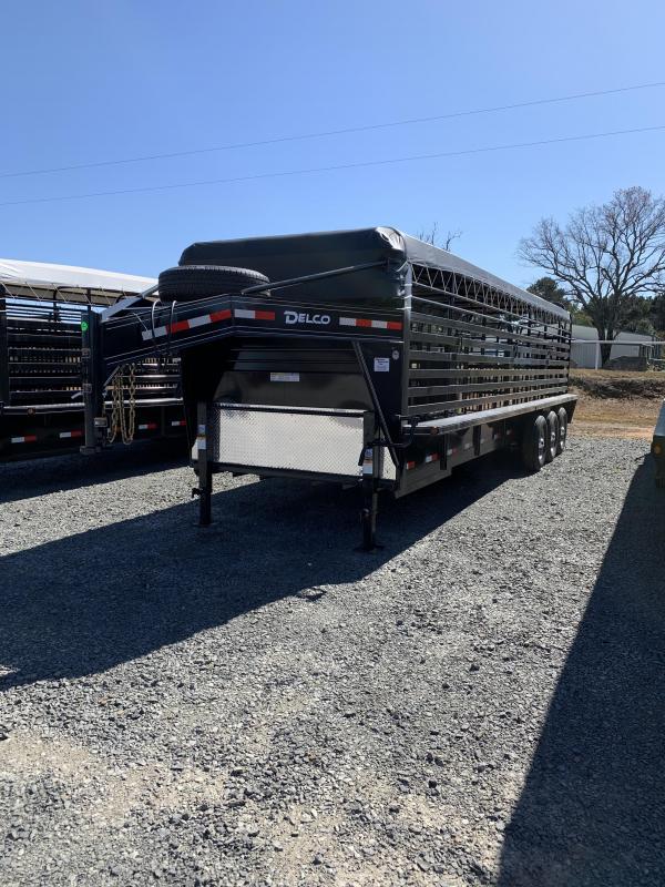 2020 Delco Trailers 28x6.8 Stock Livestock Trailer