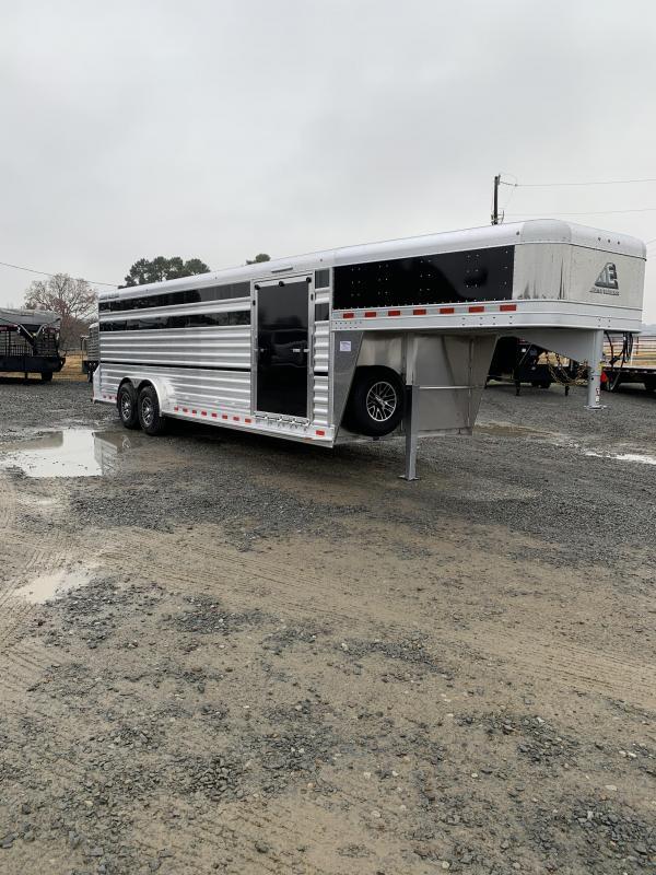 2020 Elite Trailers 7.5x24 Show Cattle Stock Livestock Trailer