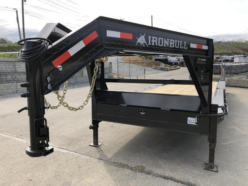 "2020 Ironbull 102x36' Gooseneck 2-Car Hauler Trailer 16000# GVW * 8000# DEXTER AXLES * FULL WIDTH RAMPS * 102"" DECK * DRIVE OVER FENDERS * BUGGY HAULER * DUAL JACKS * TOOLBOX"
