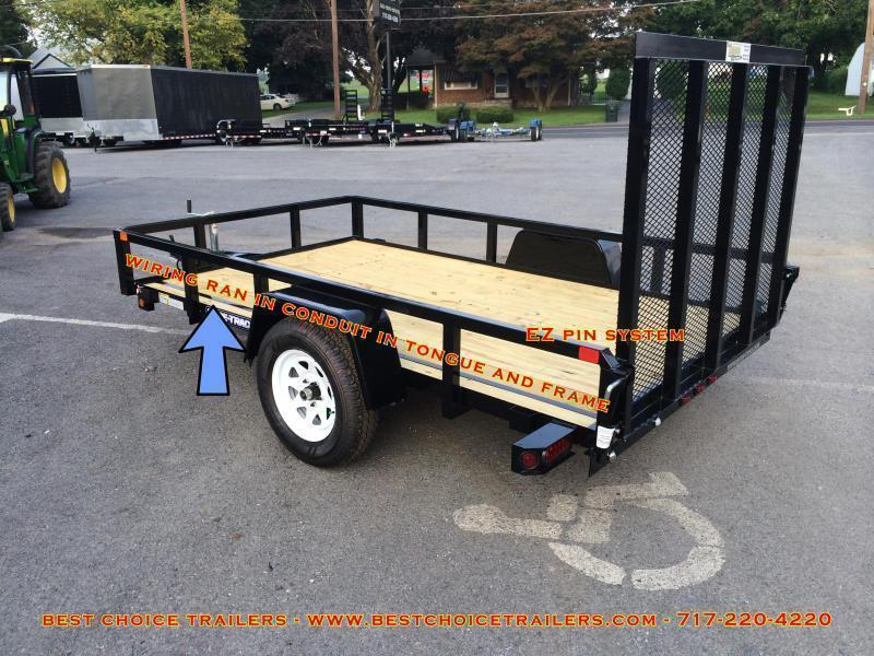 "2020 Sure-Trac 5x10' Tube Top Utility Landscape Trailer 2990# GVW * 2"" TUBE TOP RAIL * 2X2"" TUBE GATE C/M + SPRING ASSIST + FOLD FLAT * TOOLESS GATE REMOVAL * SPARE MOUNT * PROTECTED WIRING * SET BACK JACK * TRIPLE TUBE TONGUE * STAKE POCKETS * BULLET LED"