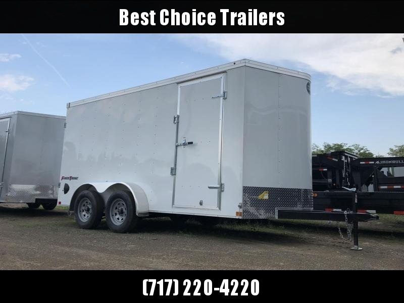 2019 Wells Cargo 7x16' Fastrac Enclosed Cargo Trailer 7000# GVW * WHITE * BARN DOORS * V-NOSE * CLEARANCE