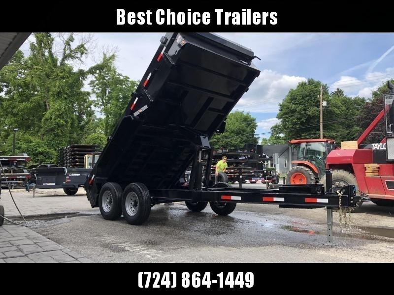 2020 Ironbull 7x14' Dump Trailer 14000# GVW * RAMPS * TARP KIT * SCISSOR HOIST * I-BEAM MONOFRAME * 110V CHARGER * ADJUSTABLE COUPLER * DROP LEG JACK * 10GA FLOOR * KEYWAY IN SIDES * POWER UP/POWER DOWN  * CLEARANCE