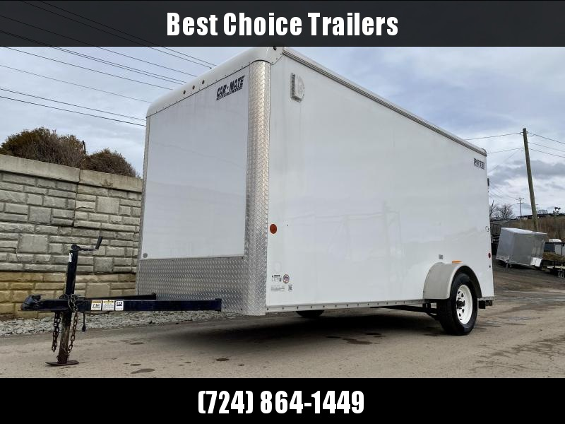 """USED 2015 Car Mate 6x14' Enclosed Cargo Trailer 2900# GVW * RAMP * SCREWLESS * 6'6"""" HEIGHT * PLYWOOD * DEXTER'S"""