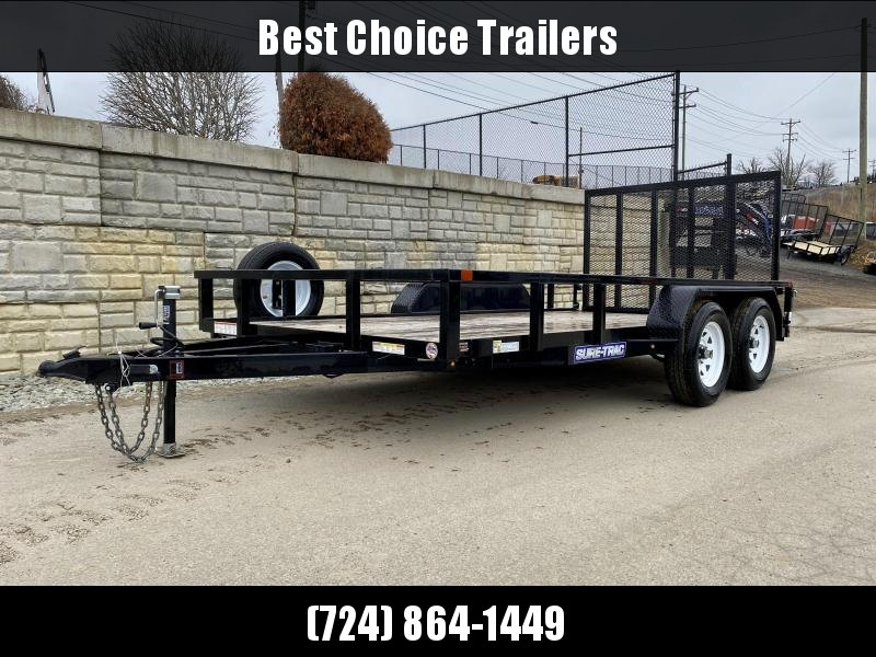 USED 2019 Sure Trac 7x14' Tube Top Utility Landscape Trailer 7000# GVW * SPARE TIRE