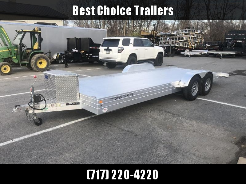 USED 2016 Featherlite 7x20' All Aluminum Car Hauler Trailer 9990# GVW * TORSION * TOOLBOX * EXTRUDED FLOOR * 7' RAMPS