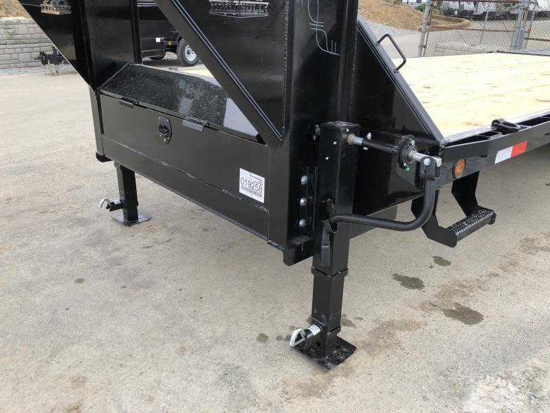 2020 Ironbull 102x25+5' Gooseneck Beavertail Flatbed Deckover  14000# GVW * 2 Flipover Ramps * I-BEAM FRAME * RUBRAIL/STAKE POCKETS/PIPE SPOOLS/D-RINGS * DUAL JACKS * FULL TOOLBOX * DEXTER'S