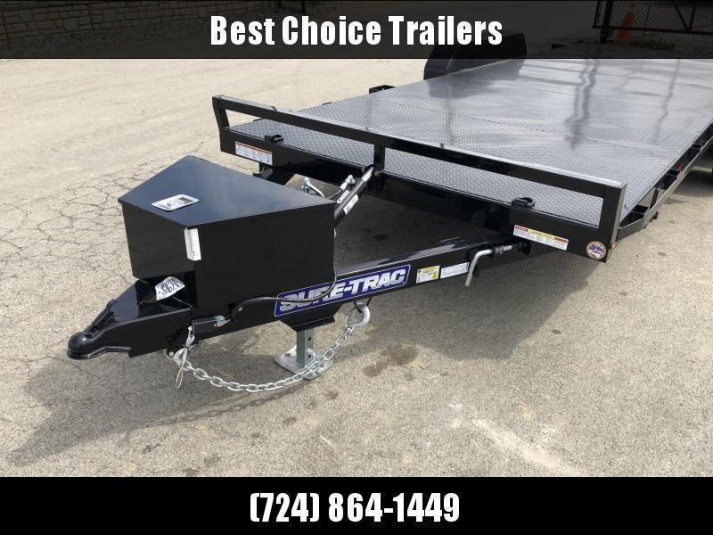 2020 Sure Trac 7x20' 9900# POWER Tilt Car Trailer * ST8220CHWPT-B-100 * STEEL DECK UPGRADE * FREE ALUMINUM WHEEL UPGRADE * CLEARANCE