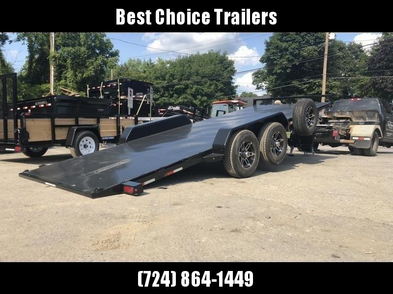 2020 Sure Trac 7x20' 9900# POWER Tilt Car Trailer * ST8220CHWPT-B-100 * STEEL DECK UPGRADE * FREE ALUMINUM WHEEL UPGRADE * CLEARANCE