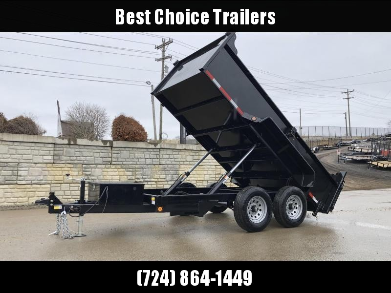 2020 QSA 6x12' Low Profile SD Dump Trailer 9850# GVW * 2' SIDES * DUAL PISTON * OVERSIZE TOOLBOX * DROP LEG JACK * FRONT/REAR BULKHEAD