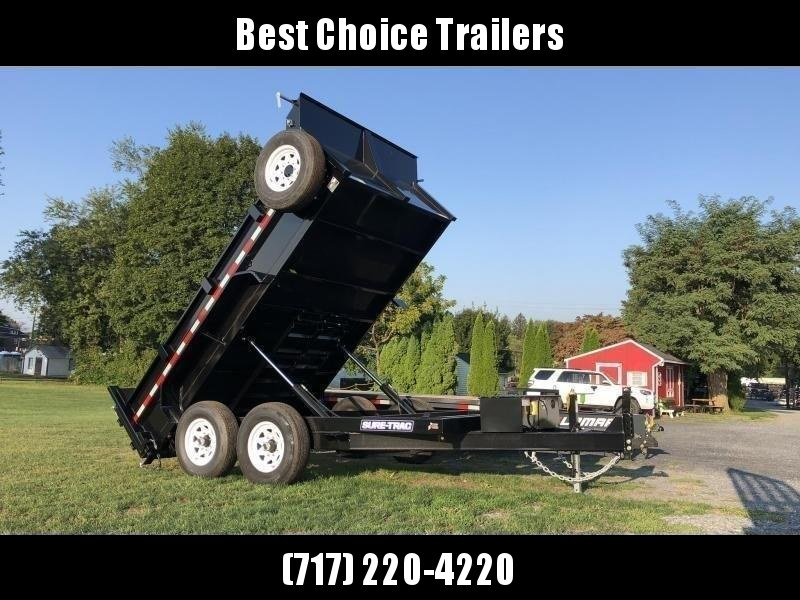 2020 Sure-Trac 7x14' Dump Trailer 14000# GVW * TARP KIT * HYDRAULIC JACK * 7 GAUGE FLOOR * DUAL PISTON * FRONT/REAR BULKHEAD * INTEGRATED KEYWAY * 2' SIDES * UNDERBODY TOOL TRAY * ADJUSTABLE COUPLER * 110V CHARGER