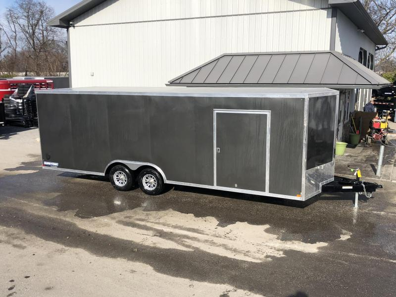 "2020 Sure-Trac 8.5x24' Enclosed Car Trailer 9900# GVW * DELUXE * BLACK * 7K JACK * ESCAPE HATCH * FINISHED WALLS * NUDO FLOOR & RAMP * TORSION * 48"" DOOR & MORE"