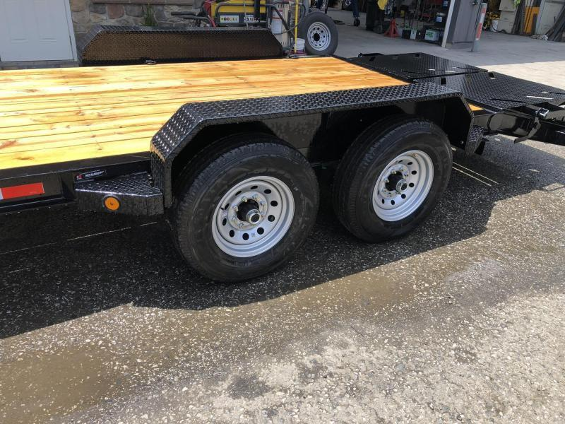 2020 Ironbull 7x20' Equipment Trailer 14000# GVW * FULL WIDTH RAMPS * I-BEAM FRAME * CHAIN TRAY * D-RINGS * REMOVABLE FENDERS * CLEARANCE