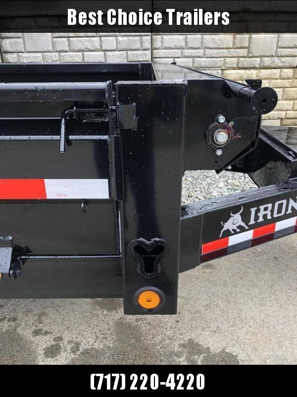 """2019 Ironbull 8x16' Deckover Dump Trailer 14000# GVW * TARP KIT * 10"""" I-BEAM FRAME * BED RUNNERS * FOLD DOWN SIDES * OVERSIZE 5x20 SCISSOR * 12K JACK"""