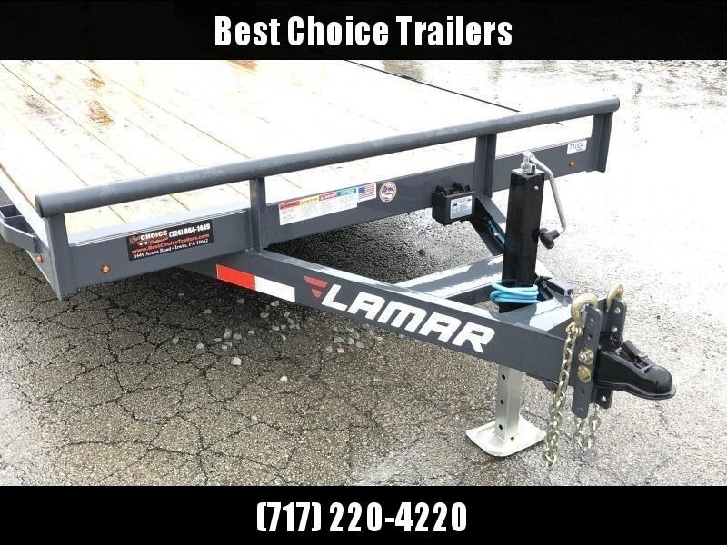 2019 Lamar 7X20' CC10 Car Trailer 9990# GVW RUBRAIL * REMOVABLE FENDERS  * CHARCOAL POWDERCOATING * 7K DROP LEG JACK * CLEARANCE