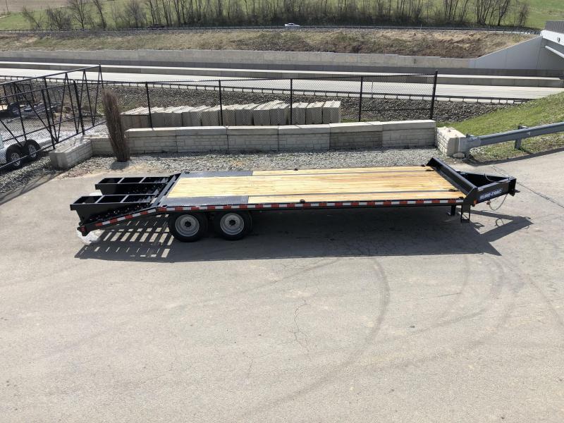"""USED 2019 Sure-Trac 102""""x20+5' LowPro Deckover Trailer 17600# GVW * 8000# AXLES * PIERCED FRAME"""