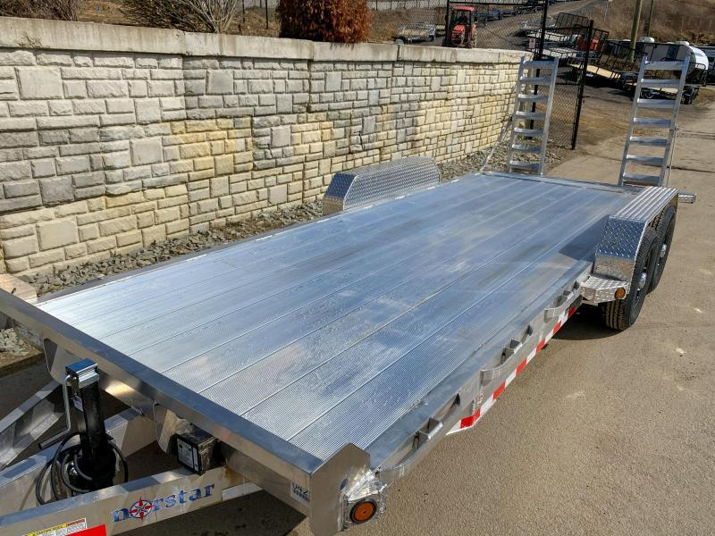 2020 Ironbull 7X20' Aluminum Equipment Trailer 14000# GVW * EXTRUDED FLOOR * ALUMINUM FRAME * STAND UP RAMPS * ALUMINUM WHEELS