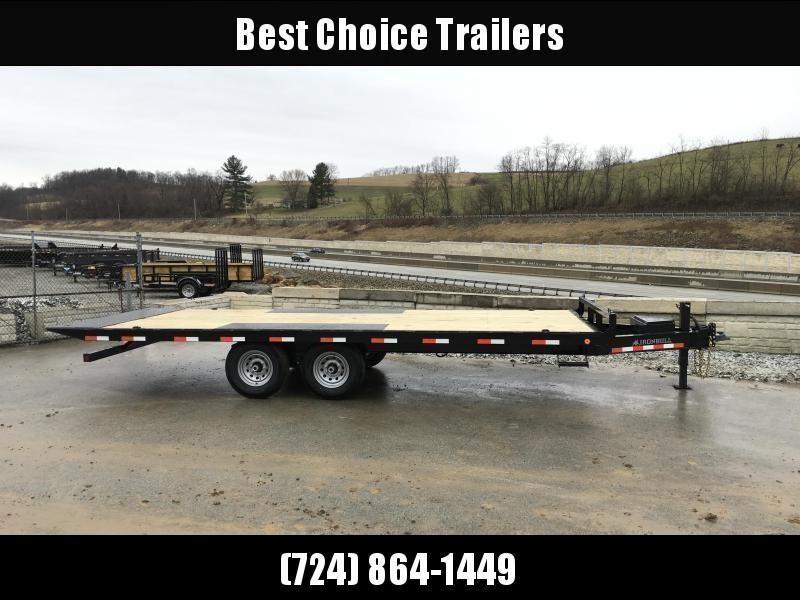 """2020 Ironbull 102x22' Deckover Power Tilt Trailer 14000# GVW * DUAL PISTON * I-BEAM FRAME * RUBRAIL/STAKE POCKETS/PIPE SPOOLS/D-RINGS/BANJO EYES * 6"""" TUBE BED FRAME * 4X4X1/4 WALL TUBE BED RUNNERS (12#/') * DEXTER'S * 2-3-2 WARRANTY"""