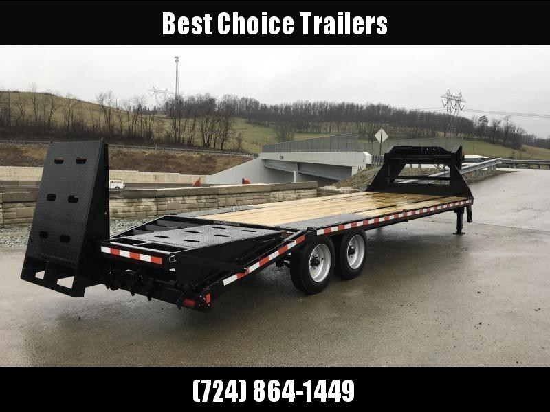 2020 Sure-Trac 102x25+5 17600# Gooseneck Beavertail Deckover Trailer * 8000# AXLE UPGRADE * PIERCED FRAME * FULL WIDTH RAMPS
